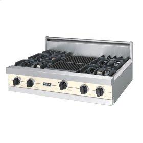 "Biscuit 36"" Sealed Burner Rangetop - VGRT (36"" wide, four burners 12"" wide char-grill)"