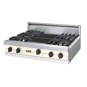 "Biscuit 36"" Sealed Burner Rangetop - VGRT (36"" wide, four burners 12"" wide char-grill)"
