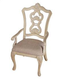Pierced Back Arm Chair W/uph Seat Rta