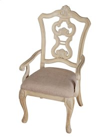 Pierced Back Arm Chair W/uph Seat Rta