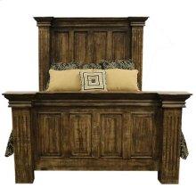 """Queen Bed : 73"""" x 94"""" x 74"""" Terra Latte Bed"""