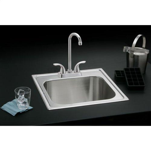"Dayton Stainless Steel 20"" x 20"" x 10-1/8"", Single Bowl Drop-in Laundry Sink"
