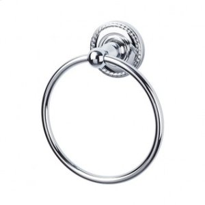 Edwardian Bath Ring Rope Backplate - Polished Chrome