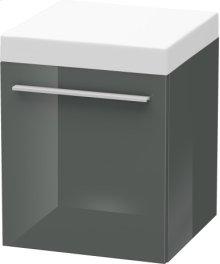 Mobile Storage Unit, Dolomiti Grey High Gloss Lacquer