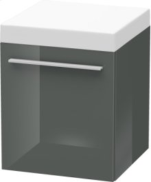 Mobile Storage Unit, Dolomiti Grey High Gloss Lacquer