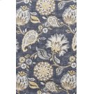 Blue Patterened Stitched Slip Cover Product Image