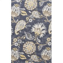 Blue Patterened Stitched Slip Cover