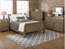 Slater Mill Queen Sleigh Bed- Complete