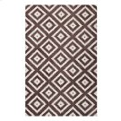 Alika Abstract Diamond Trellis 5x8 Area Rug in Ivory and Brown Product Image