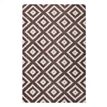Alika Abstract Diamond Trellis 5x8 Area Rug in Ivory and Brown