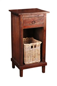 CC-CHE530S-RW-B  Cottage End Table with Basket
