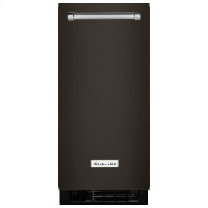 KitchenaidKitchenAid® 15'' Automatic Ice Maker - Black-on-Stainless