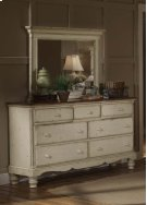Wilshire Mirror Antique White Product Image