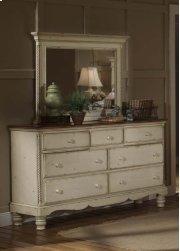 Wilshire Mirror Antique White Product Image