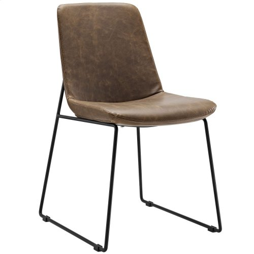 Invite Dining Side Chair in Brown