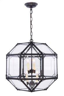 Gordon Collection 4-Light Rustic Zinc Finish Pendant