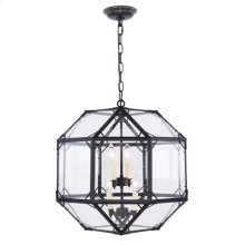 Gordon Collection 4-Light Rustic Zinc Finish Pendant