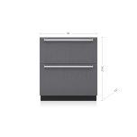 "SUB-ZERO30"" Designer Freezer Drawers with Ice Maker - Panel Ready"