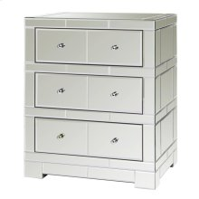 Andrea 3-Drawer Side Table, Mirror