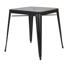 Bristow Metal Dining With Umbrella Hole Center Placementtable In Matte Black Finish (kd)