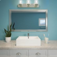 Bluebell Rectangular Above-counter Vitreous China Bathroom Sink Cwh
