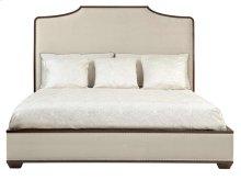King-Sized Haven Upholstered Platform Bed in Brunette (346)