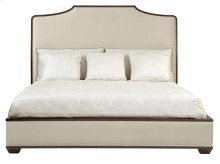King-Sized Haven Upholstered Platform Bed in Brunette (346)