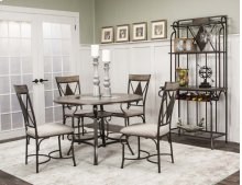 "Manta-45""rd Top 5pc Dining Set"