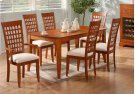 """DINING CHAIR - 2PCS / AMARETTO """"WEAVE BACK"""" STYLE Product Image"""