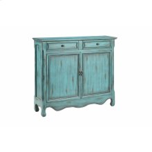 Claridon 2-door 2-drawer Cabinet In Dark Blue