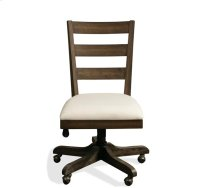 Perspectives Wood Back Upholstered Desk Chair Brushed Acacia finish Product Image