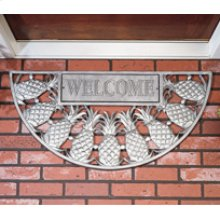 Welcome Pineapple Mat French Bronze