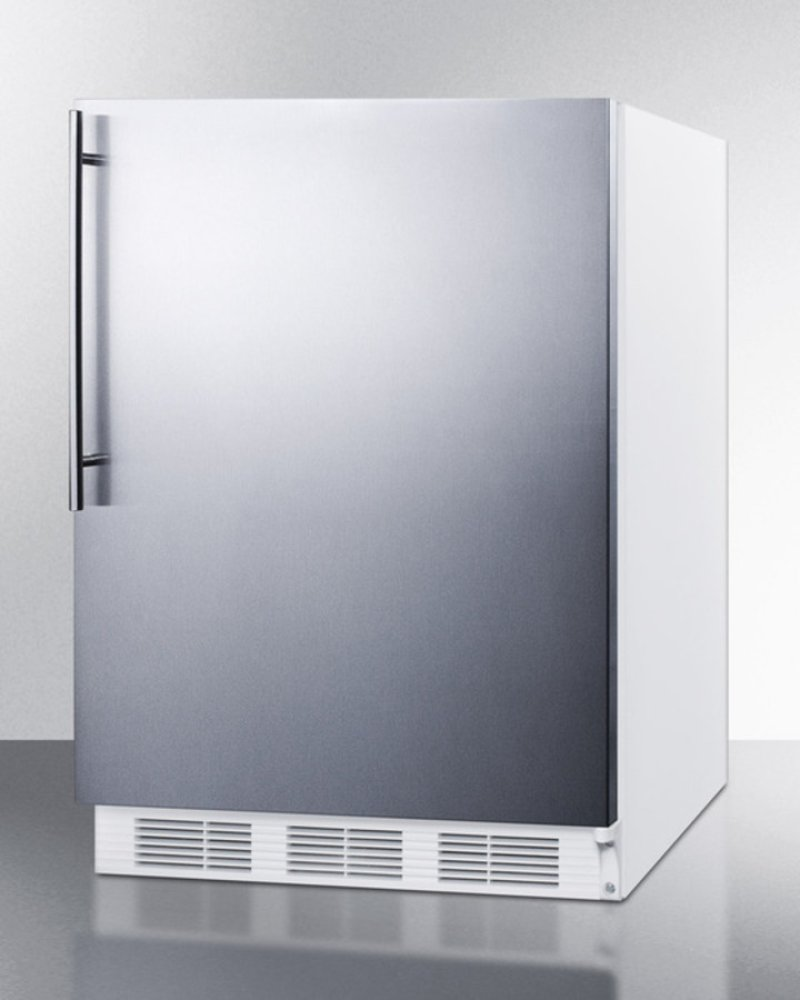 Ct66jsshv In By Summit Clinton Ct Freestanding Refrigerator Refrigeration Cycle For Dummies Freezer General Purpose Use With Dual Evaporator Cooling Defrost