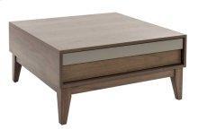 Square Center Table In Walnut Veneer / Legs In Solid Wood Walnut