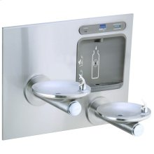 Elkay EZH2O Bottle Filling Station with Integral SwirlFlo Fountain, Filtered Non-Refrigerated Stainless