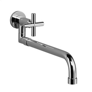 Pot filler with pull-out spout - chrome
