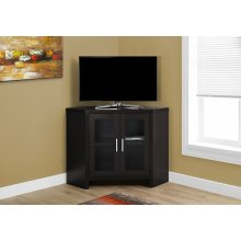 """TV STAND - 42""""L / CAPPUCCINO CORNER WITH GLASS DOORS"""