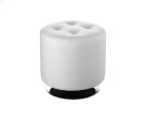 Domani Swivel Ottoman Small - Snow Product Image