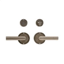 "Round Flute Entry Set - 3 1/2"" Silicon Bronze Brushed with Basic"