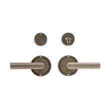 "Round Flute Entry Set - 3 1/2"" Silicon Bronze Brushed with Basic"