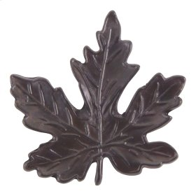D Maple Leaf Knob 2 Inch - Aged Bronze