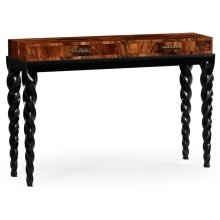 Black Barleytwist Console Table with Drawers