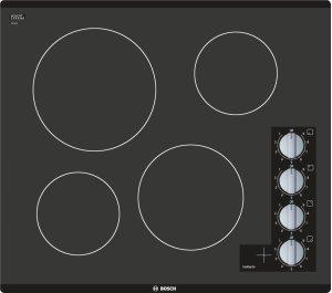 "500 Series 24"" 4 BRNR Knob Control Electric Cktp, Black Product Image"