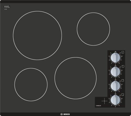 "500 Series 24"" 4 BRNR Knob Control Electric Cktp, Black"