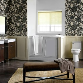 Luxury Series 30x51-inch Walk-In Tub  Combo Massage Tub  American Standard - Linen