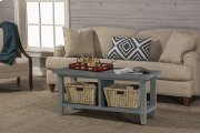 Tuscan Retreat® Blanket Bench - Nordic Blue Product Image