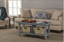 Tuscan Retreat® Blanket Bench - Nordic Blue