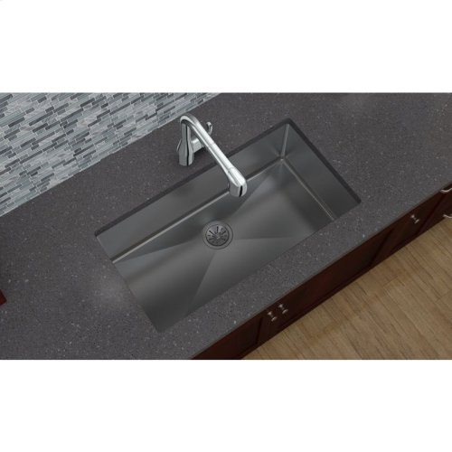 "Elkay Crosstown 16 Gauge Stainless Steel 32-1/2"" x 18"" x 10"", Single Bowl Undermount Sink"