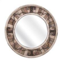 Sylvia Metal and Wood Mirror