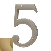 Vintage Brass House Number - 5